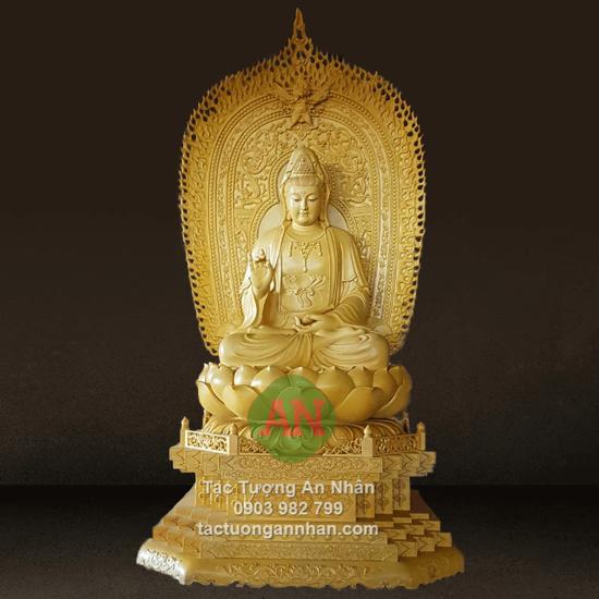 Tượng Phật Quan Âm Bằng Gỗ