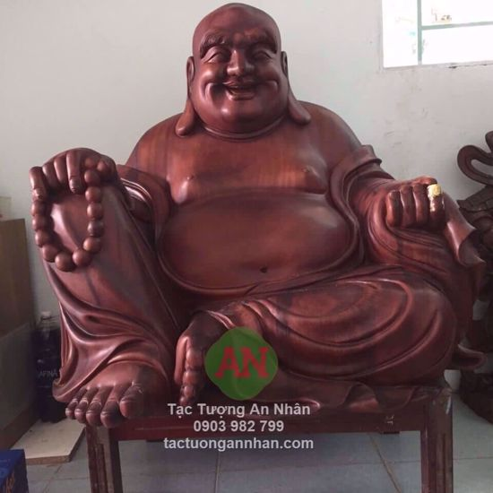 Tượng Gỗ Phật Di Lạc