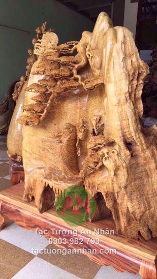 Gốc bồ đề đạt ma bằng gỗ