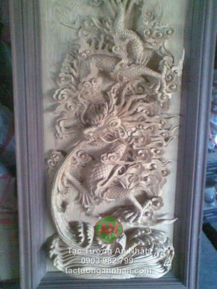Phù điêu rồng bằng gỗ