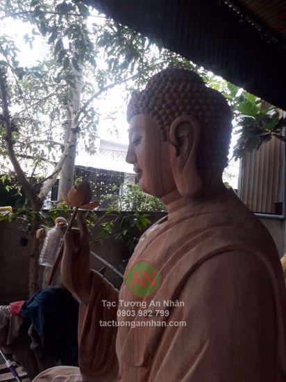 Tượng Gỗ Diện Nghiên Phật Bồn Sư