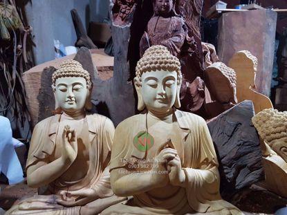 Tượng Gỗ Phật Adida