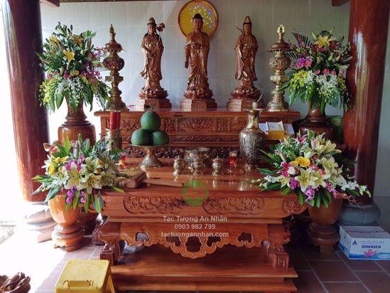 Tượng Gỗ Tam Thế Phật 04
